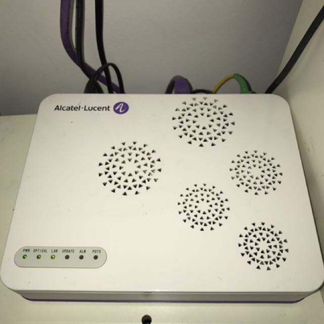 modem for fiber Alcatel-lucent, Electronics, Others on Carousell