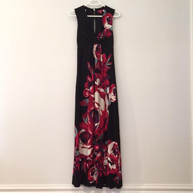 Monsoon Long Floral Dress