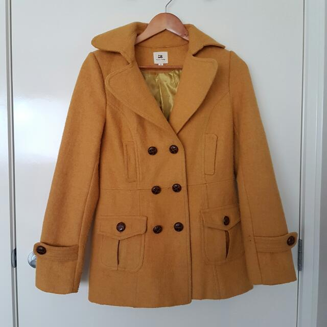 Mustard Yellow Coat S ModCloth/ShopRuche
