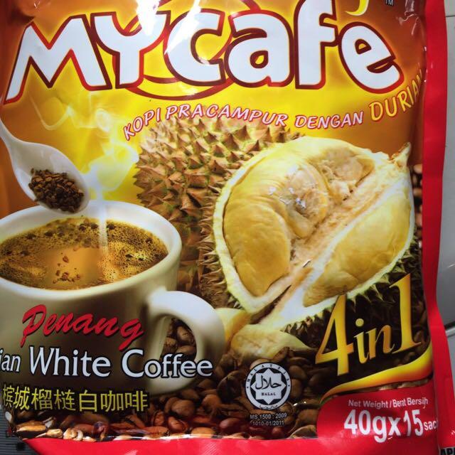 MY Café檳城榴槤白咖啡4合1 Durian Coffee