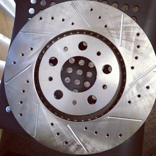 Natural Finish Drilled And Slotted Brake Rotors