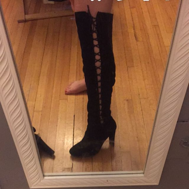 New Black Boots! Size 7