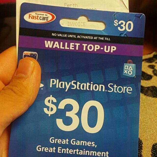 NEW Playstation gift card $30