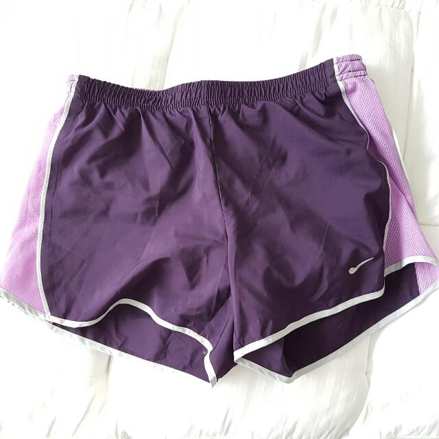 Nike Dri-Fit Purple Layered Running/Bike Shorts XS (8)