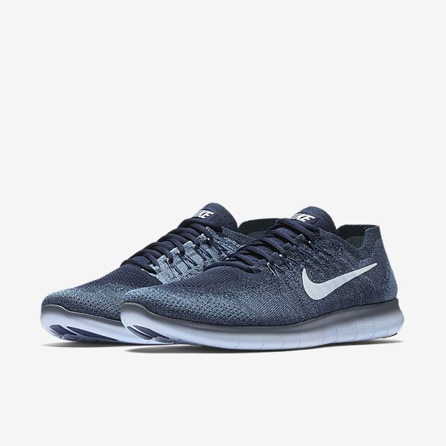 d0b631c8607 Nike Free RN Flyknit 2017 (Men) - Ocean Fog Work Blue College Navy ...