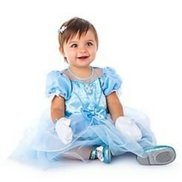 Original Disney Princess Cinderella Costume 6-12 months With Shoes