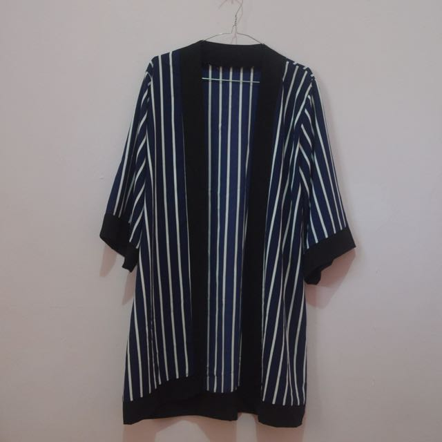 Outer Navy Blue (Striped)