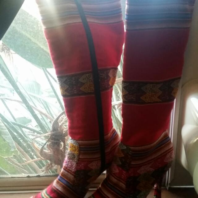 Peruvian Inca Leather Boots