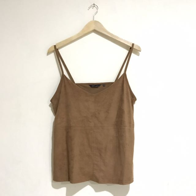 Preloved New Look Tank Top Suede