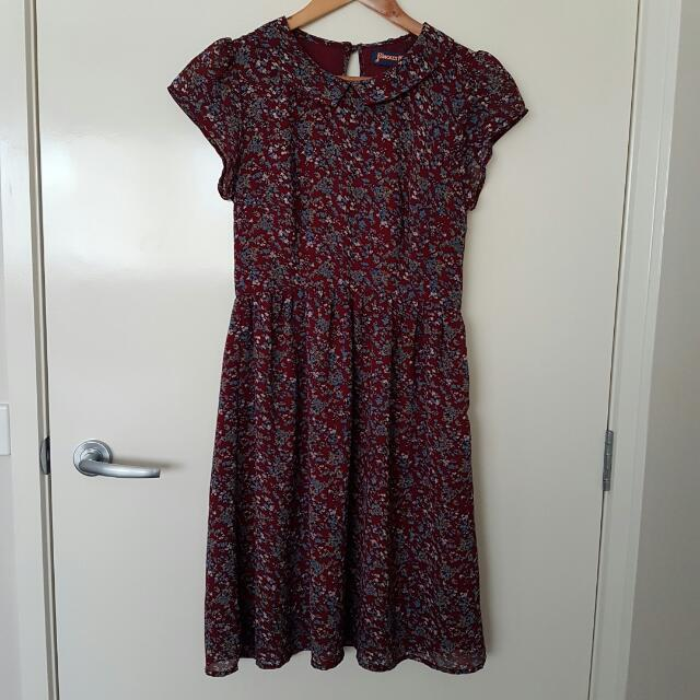 Princess Highway Dangerfield Peter Pan Collar Skater Dress 8