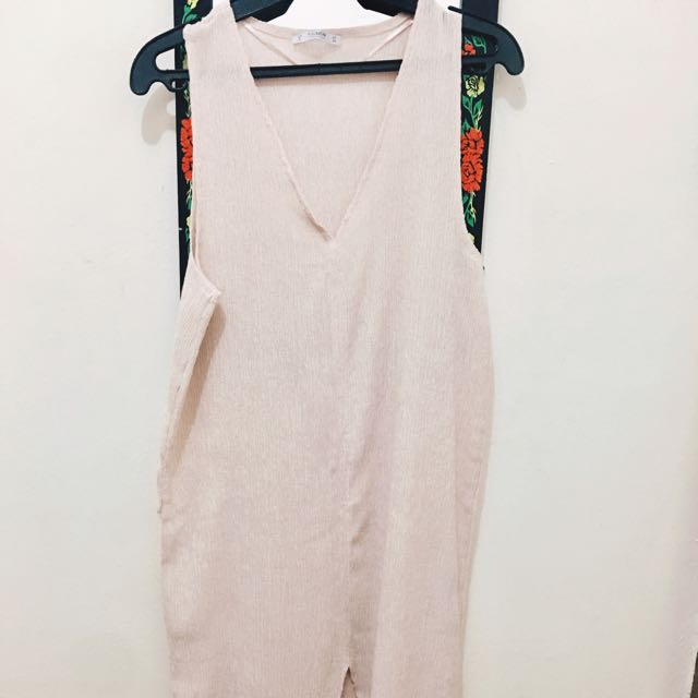 PullandBear Light Rose Long Dress