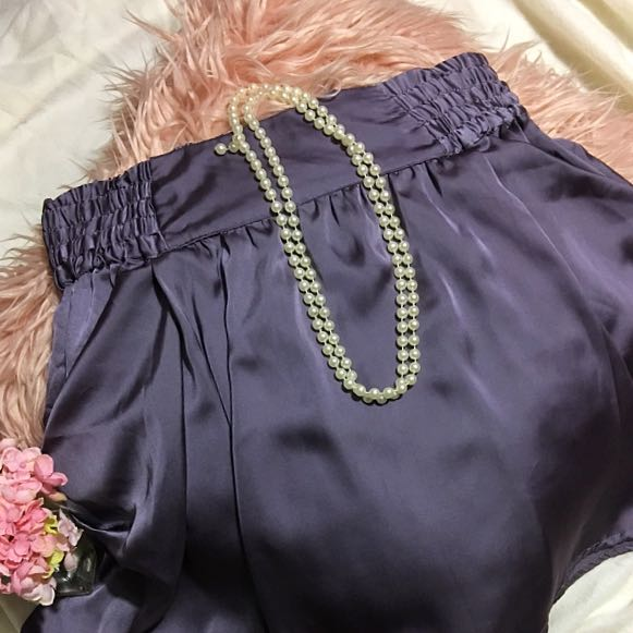 Purple silky skirt