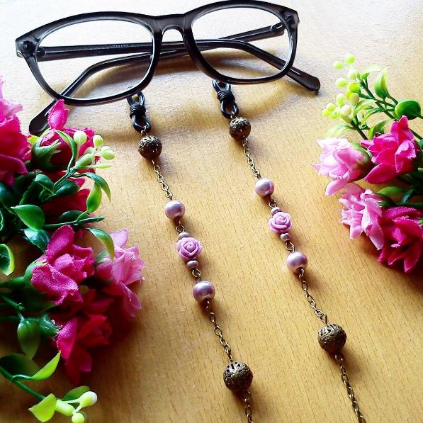 Rantai Kacamata Glasses Strap Vintage Purple
