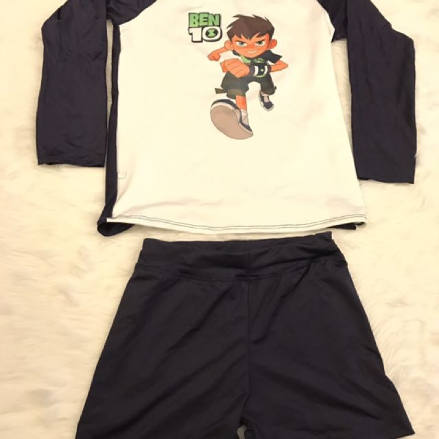"Rashguard ""ben10"" For Kids 7 To 9 Yrs. Old"