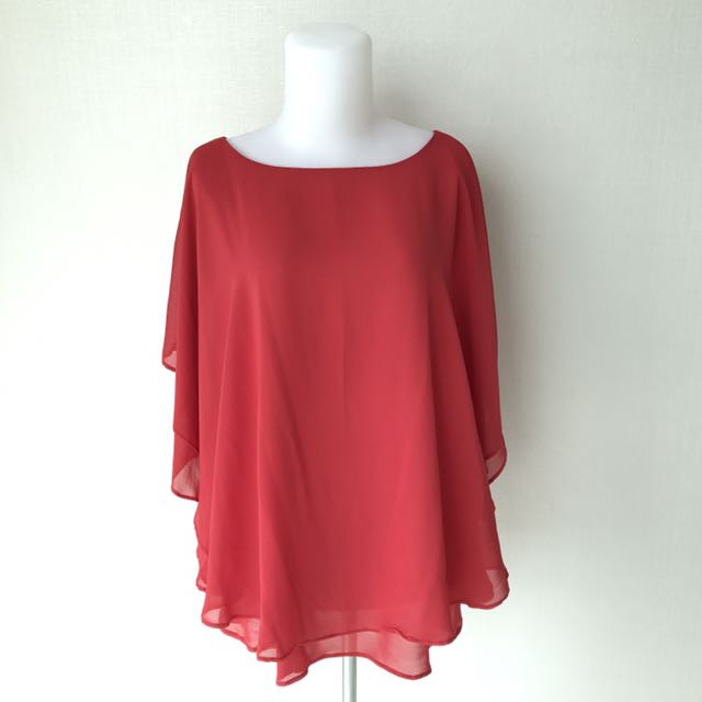 Red Chiffon Top