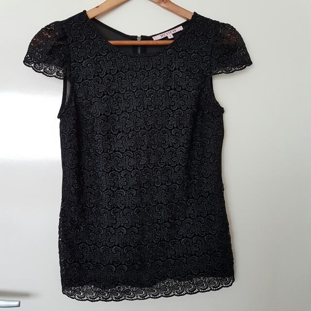Review Black Lace Top 10