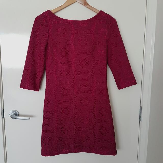 Review Crochet Lace Shift Dress 8