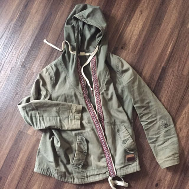 Roxy Distressed Military Jacket