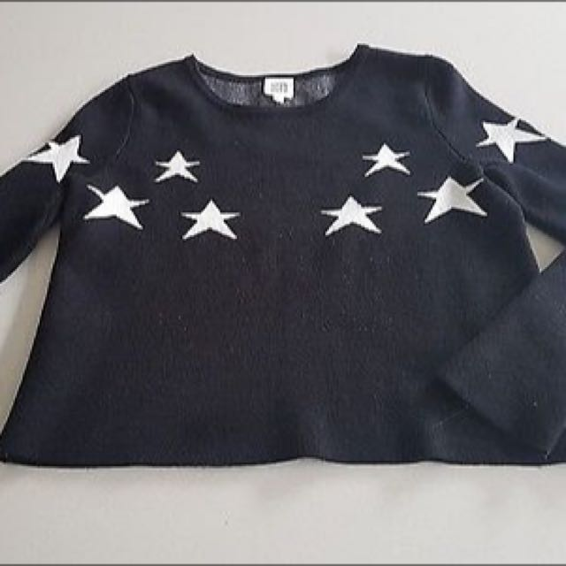 Seed Teen® Black And White Star Jumper