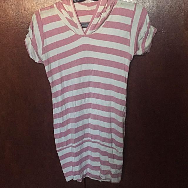 Stripes Dress Hoodie