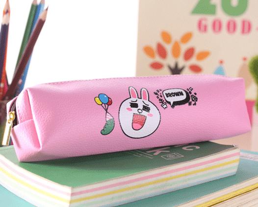 Tempat pensil motif LINE anti air Waterproof pencil case LINE - KSY053