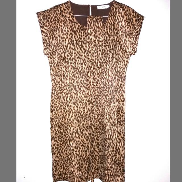 Tiger Motif Mint Dress