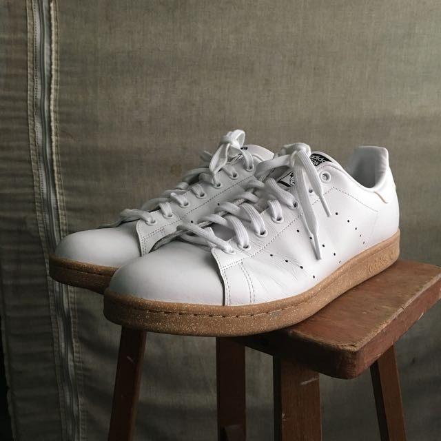the best attitude 9071d 5dae5 US 12 / UK 11.5) Adidas Stan Smith in White / Gum Sole ...
