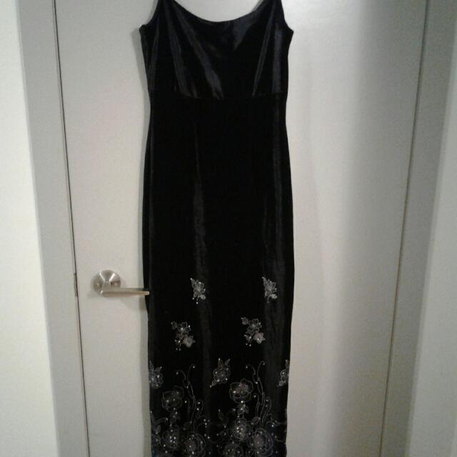 Velvet Dress With Jacket Size S