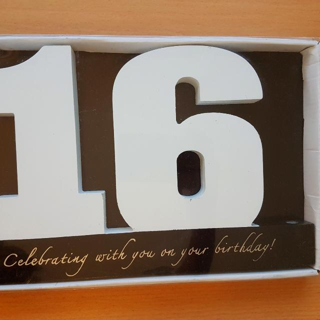 Wooden Numbers For Gift