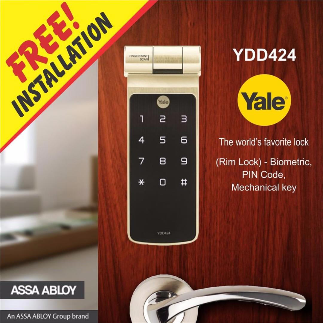 ... Yale YDD424 Biometric Fingerprint Digital Door Lock (Deadbolt Lock) ...