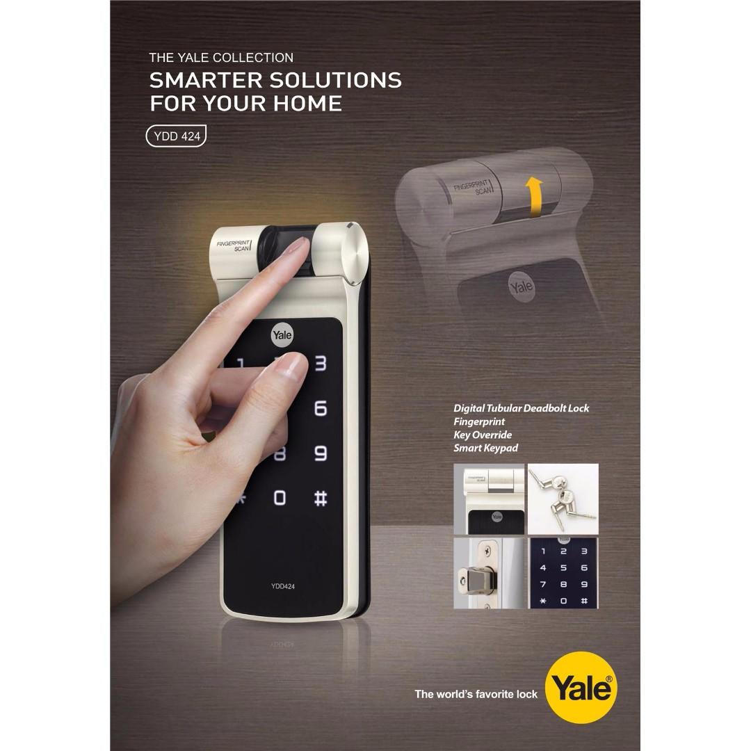 Yale YDD424 Biometric Fingerprint Digital Door Lock (Deadbolt Lock), Home U0026  Furniture, Home Decor On Carousell