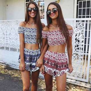 Red Festival Two Piece