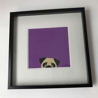 Pug Print In Frame