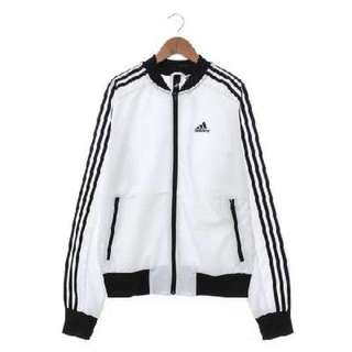 Adidas (女) 尼龍防風外套 白 BK5536