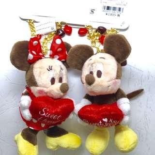 ❣️日本迪士尼❣️米奇米妮包包掛飾情侶鑰匙圈掛飾