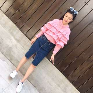 粉紅色蛋糕襯衫
