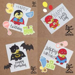 Baby Superhero Birthday Cards (A6 size)
