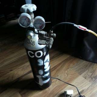 3ltr CO2 Tank With JBJ Electronic Solenoid