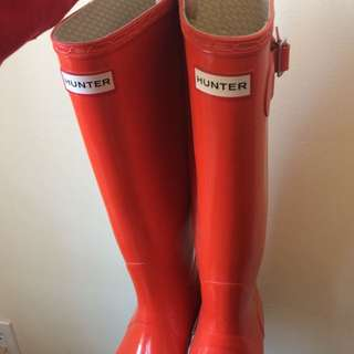 Orange Hunter Boots