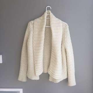 Chunky White Sweater