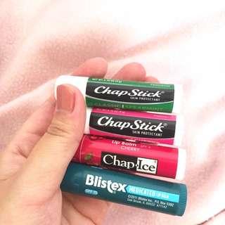 Lip balms Chapstick Blistex Chapice