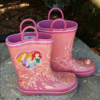 Girls Princess Rubber Boots S11