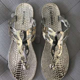 Le Chateau Gold Sandals