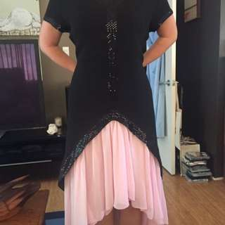Black, Pink And Sequenced size 18