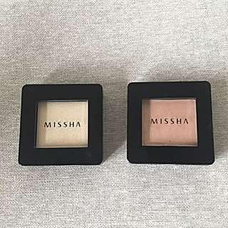 二手韓國彩妝missha眼影膏9.9成新二個只要180元含郵