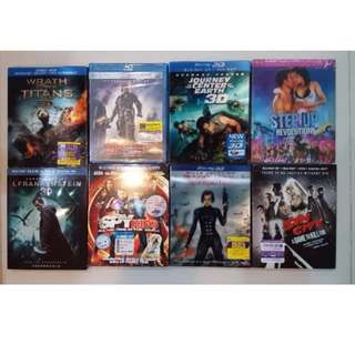 3D Blu Ray Stock Clearance Sale (Part 12). Each title $15. Minimum order 2 title.