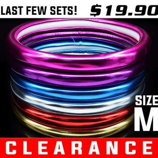 Clearance: Chrome Color Steering Wheel Covers. Size M 38cm. All colors available