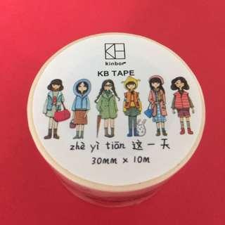 KB tape (六款女仔全身公仔)