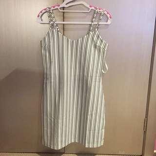 Staple The Label Stripe Slip Dress
