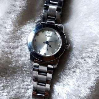 手錶 石英錶 銀色 水晶 防水 防鏽 防震 耐磨 ENABO 英納伯錶 #台北台中可面交 #轉轉來交換